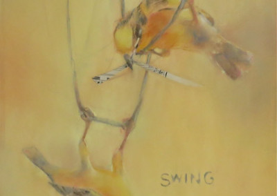 "Swing Swing  / Soft Pastel & Collage / 18"" x 12"" - $975 / SOLD"