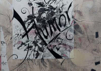 """Humoresque / Mixed Media / 8"""" x 8"""" / $300"""