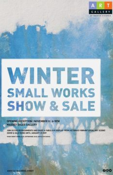 Winter Small Works Show & Sale - Nov 8th - Jan 31st 2019 @ Massey Sales Gallery / Art Gallery of Greater Victoria | Victoria | British Columbia | Canada